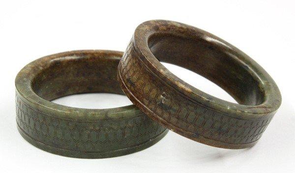 4019: Pair of Chinese Jade Bangle Bracelets