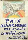 4519: Lithograph, Pablo Picasso, Paix D'esarmement