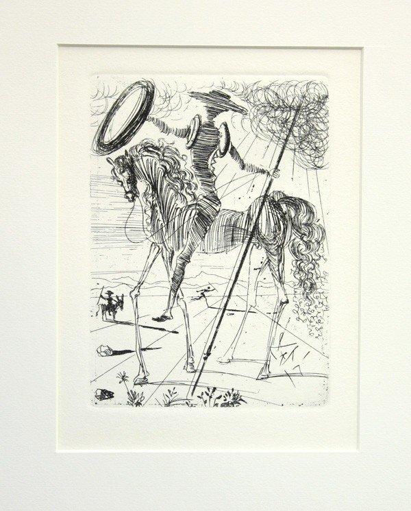 4558: Etching, After Dali, ''Cervantes''