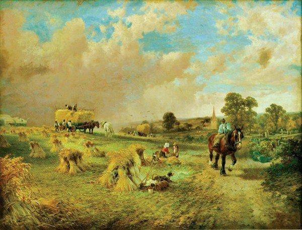 2188: Painting, George Vicat Cole, Harvest Time