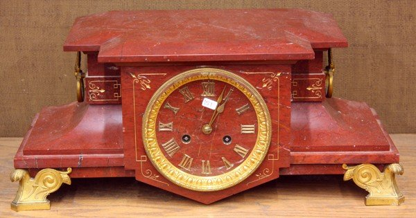 2011: French gilt mantle clock