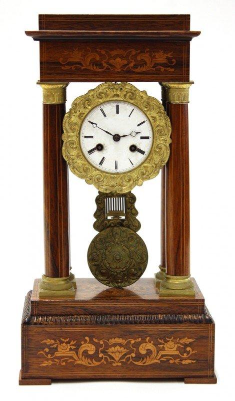 2012: Continental inlaid portico clock