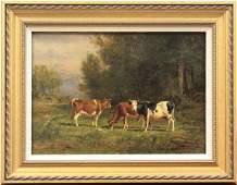 2199 Painting Thomas Bigelow Craig Edge of Woods