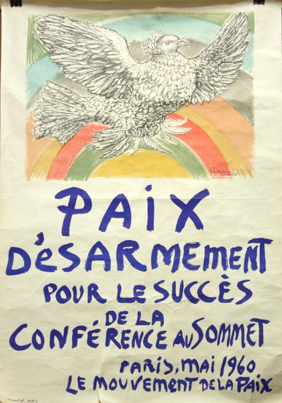 2232: Lithograph, Pablo Picasso, Paix D'esarmement