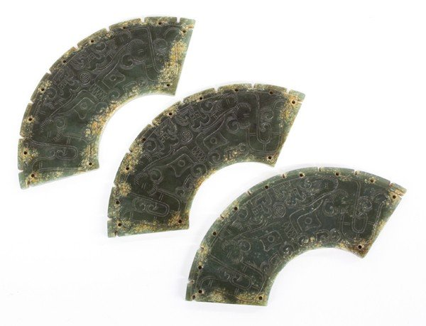 13: Chinese Archaistic Hardstone Plaques