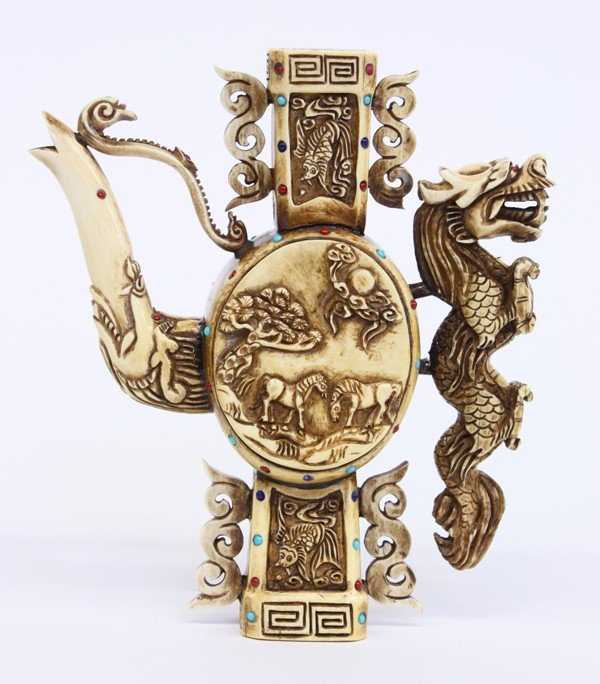 17: Chinese Ivory Pouring Vessel