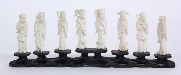 19: Chinese Small Ivory of the Eight Immortals