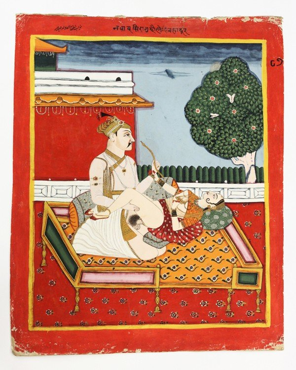 Erotic indian painting
