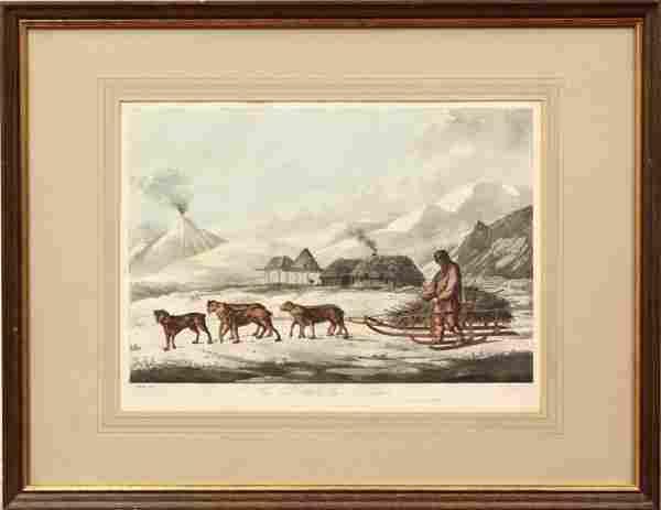 503: Etching, after John Webber, Kamtchatka