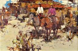 6204 Painting Burt Proctor Cowboys on Horseback