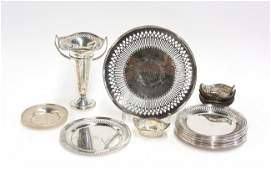 6713: American sterling table articles