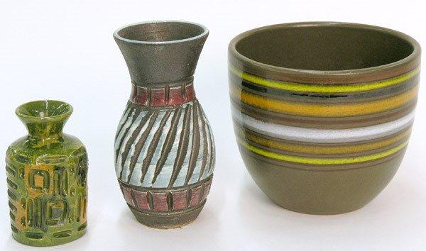 6006: Three Italian Midcentury Vases