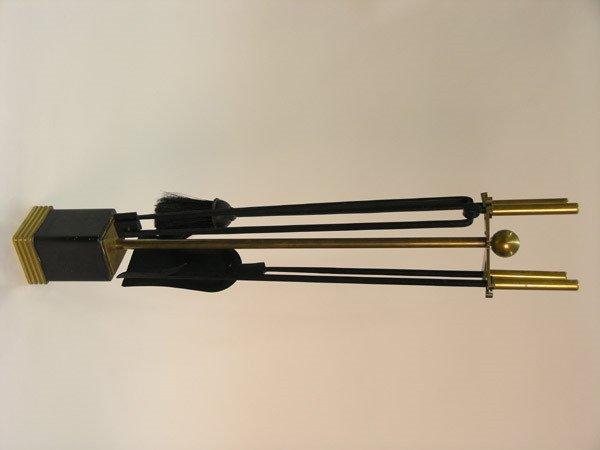 6017: Parzinger Style Fireplace Tool Set