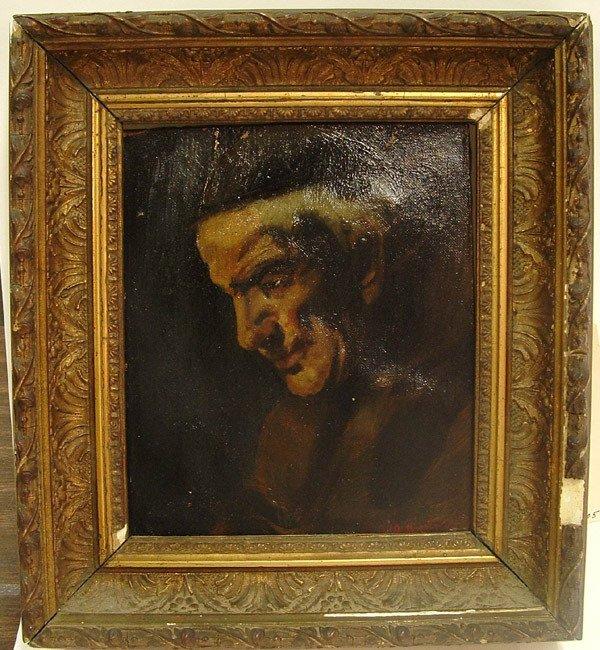 6021: Framed oil, Junipero Serra, Keith