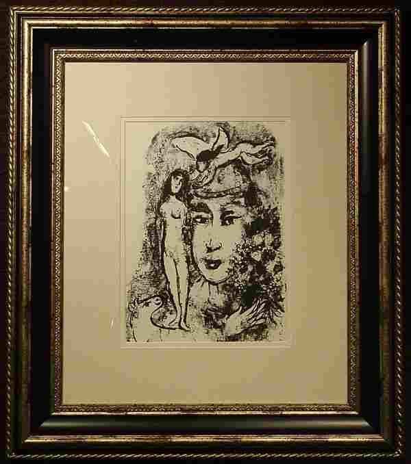 Litho, The White Clown, M. Chagall