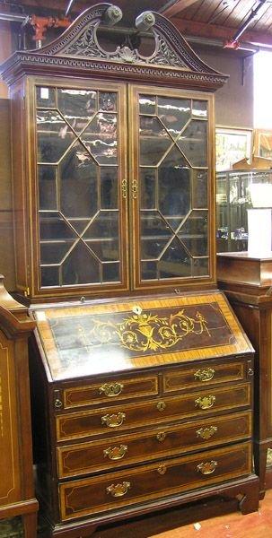 6473: Mahogany secretary bookcase
