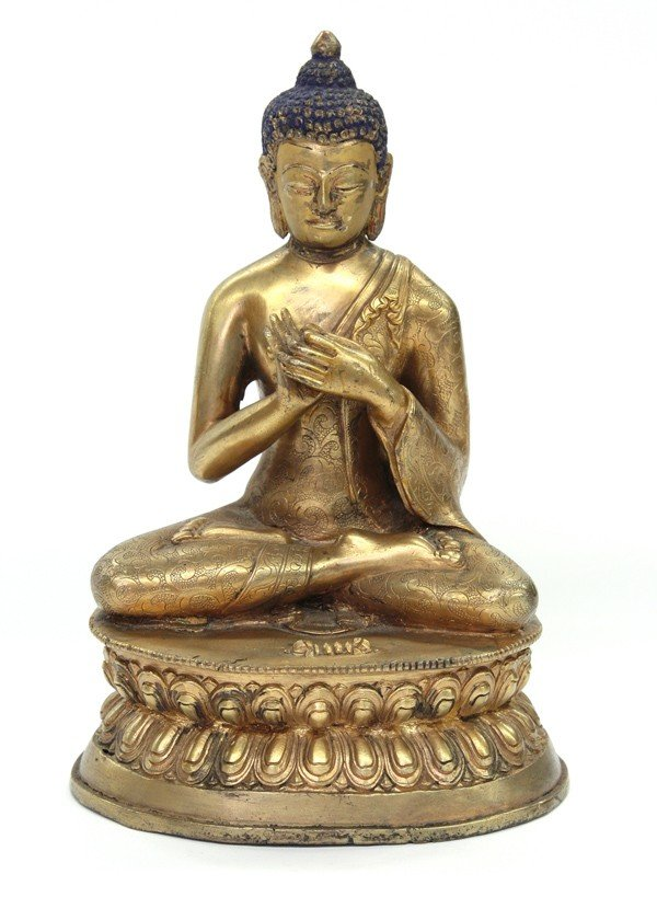 4001: Sino-Tibetan Gilt Metal Buddha