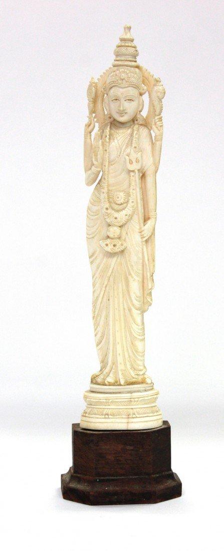4004: East Indian Ivory Hindu Deity