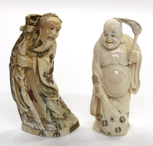 4005: Chinese Ivory Figural Carvings