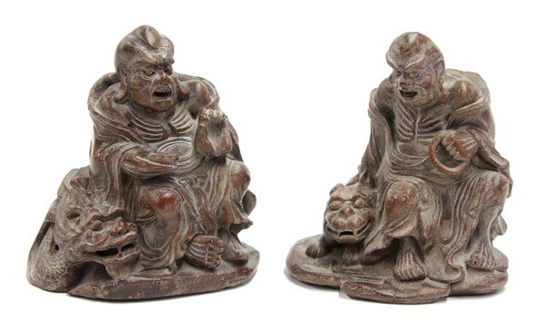 4010: Chinese Bamboo Carving of Luohans