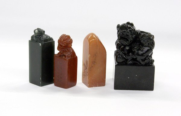 4016: Four Chinese Soapstone Seals