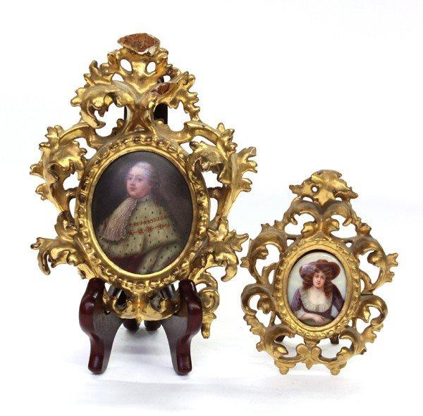 4146: Miniature portrait plaques