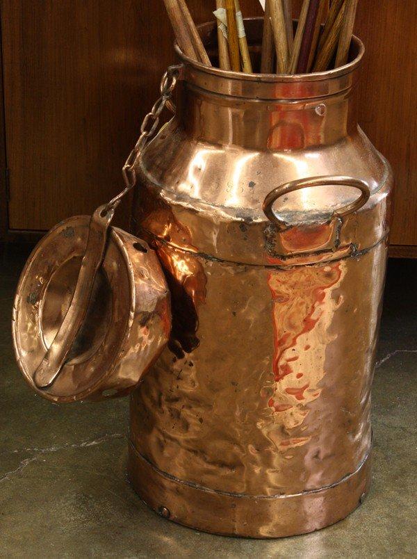 4187: Copper milk pail, milk-can