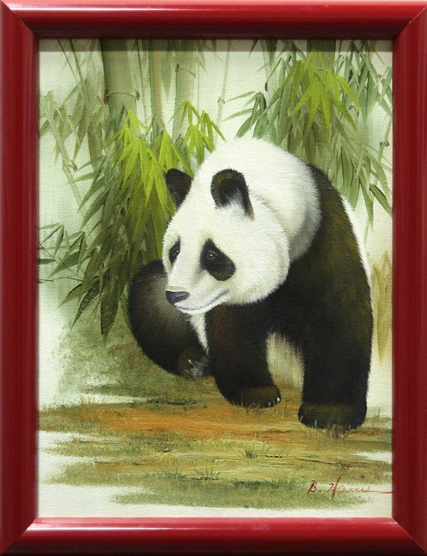 4422: Paintings, S.H. Keane, B. Harris, Portrait, Panda