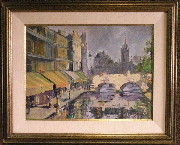 4001: Oil/canvasboard, G. Manson