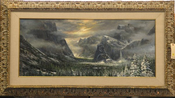 4003: Lydia Vercinsky Yosemite painting