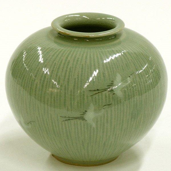 4019: Korean Celandon Vase