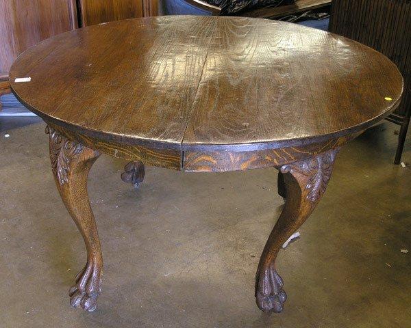 4129: American oak dining table
