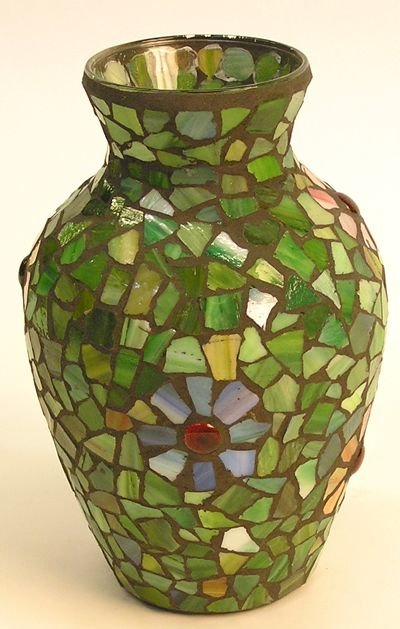 4008: Mosaic Glass Vase