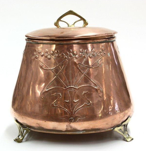 2000: Jugendstil copper wine cooler