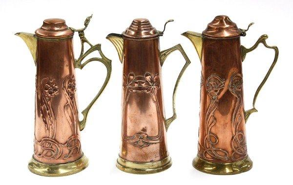 2003: Jugenstil copper claret jugs
