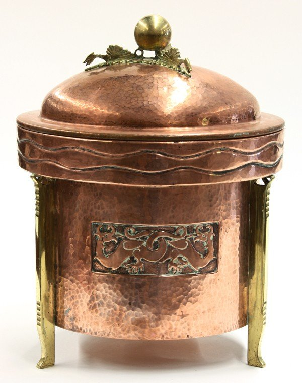2004: WMF Arts and Crafts hammered copper jardiniere