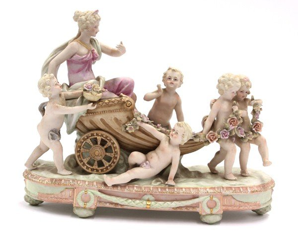 2007: Continental style figural group