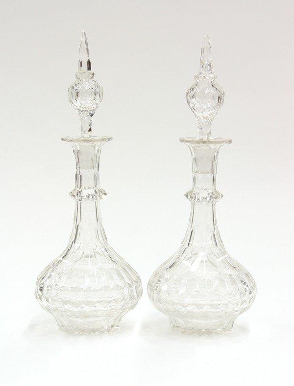 2014: Cut glass decanters