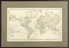 2052 Wilkinson New Mercators Charts map of World