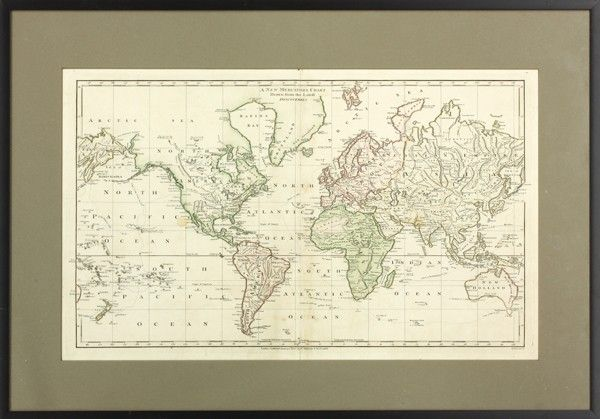 2052: Wilkinson, New Mercator's Charts, map of World