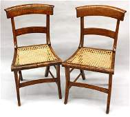 2166 Federal tiger maple chairs