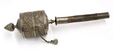 2543: Tibetan Silver Prayer Wheel