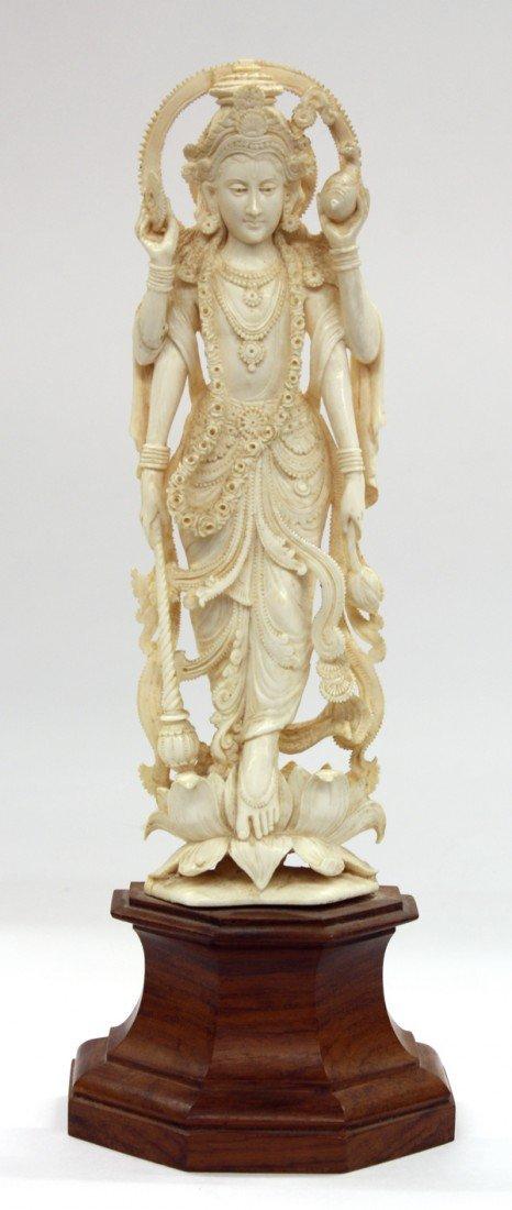 3: East Indian Ivory Carving of Visnu