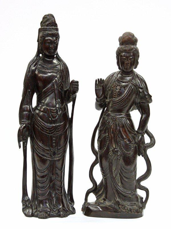 9: Chinese Wooden Bodhisattvas