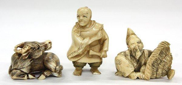 12: Three Japanese Ivory Netsuke