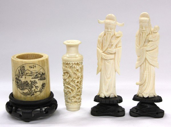 14: Four Chinese Ivory Decorations