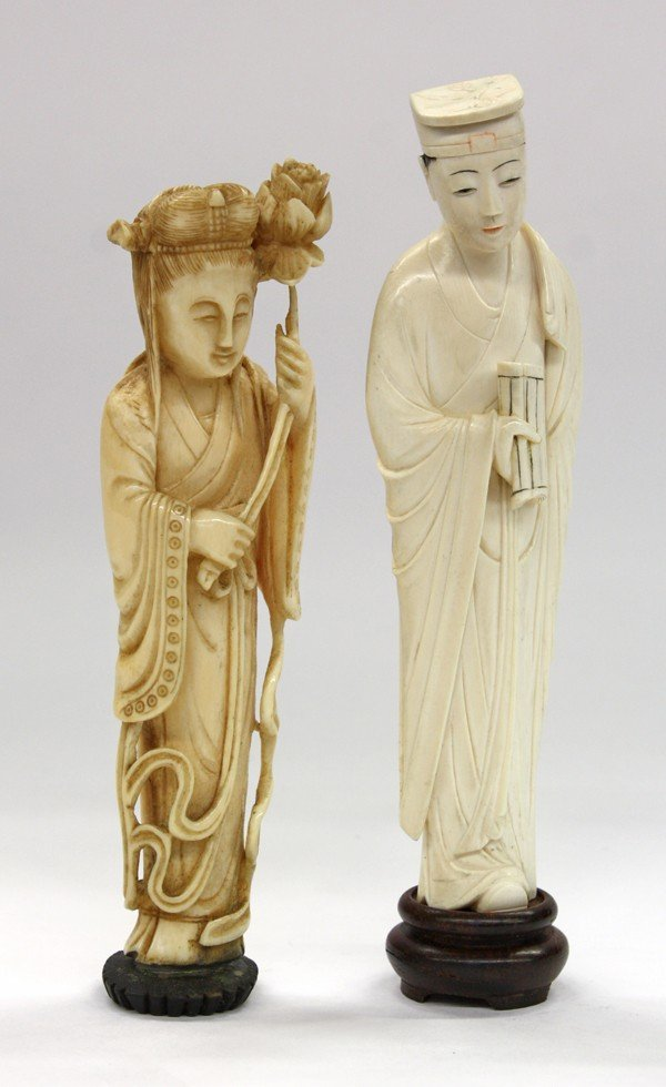 15: Chinese Small Ivory Figural Carvings