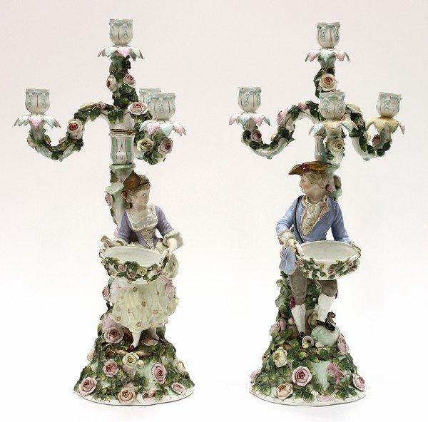 6000: continental porcelain candelabra