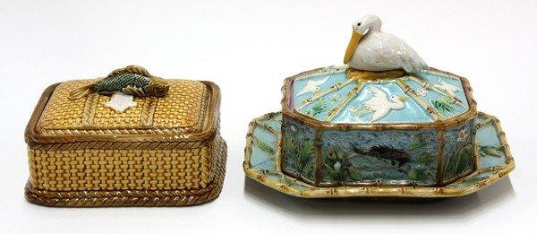 6003: George Jones majolica sardine box
