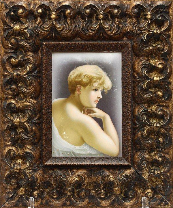 6018: KPM porcelain plaque